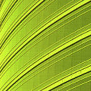Green And Yellow Building Abstract Poster