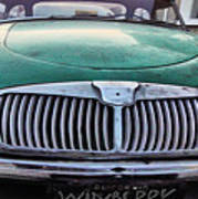 Green Austin Healey In Drive Poster