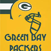 Green Bay Packers Team Vintage Art Poster