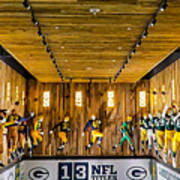 Green Bay Packers Uniforms Then And Now Poster