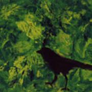 Green Bird Poster