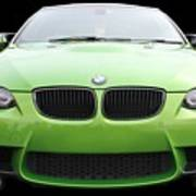 Green Bmw Poster