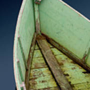 Green Boat Poster