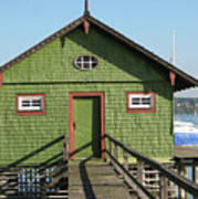 Green Boathouse Poster