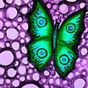 Green Butterfly II Poster by Brenda Higginson