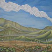 Green Desert Poster