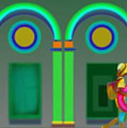 Green Doors Poster
