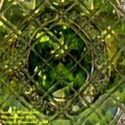 Green Emerald And White Diamond Brooch Distortion Aa H A Poster