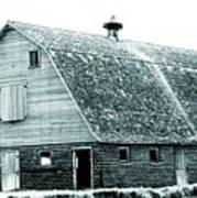 Green Field Barn Poster