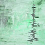 Green Gray Abstract Poster