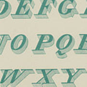 Green Italic Font Poster