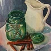 Green Jar Poster
