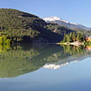 Green Lake Whistler Panorama Poster