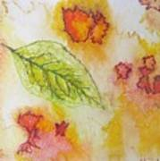 Green Leaf Of Fall Poster