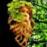 Green Man Poster by Jen White