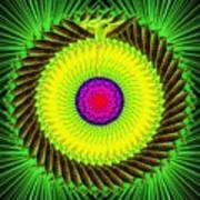 Green Parrot Mandala Poster