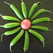 Green Pepper Design Poster