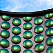 Green Polka-dot Curve Poster
