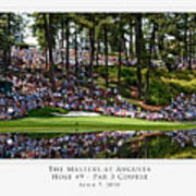 Green Reflections Par 3 Hole 9 Poster by Barry C Donovan