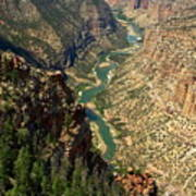 Green River Carving Canyon Poster