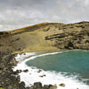 Green Sand Beach On The Big Island Hawaii Poster