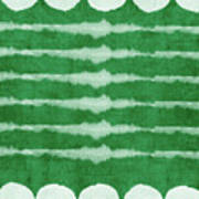Green Shibori 3- Art By Linda Woods Poster