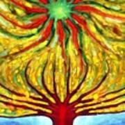 Green Sun Poster