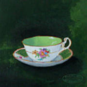 Green Teacup Poster