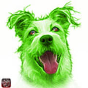 Green Terrier Mix 2989 - Wb Poster