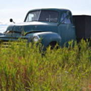 Green Truck In The Green Grass Poster