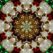 Green White Red Blue Kaleidoscope 1 Poster