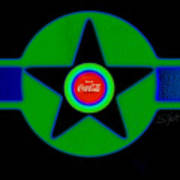 Green With Blue Poster