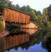 Greenfield Nh Covered Bridge Poster