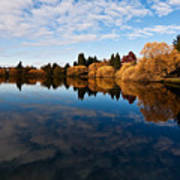 Greenlake Fall Reflections Poster