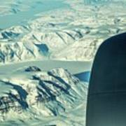 Greenland From Flight Level 380 Poster