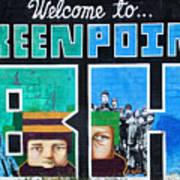 Greenpoint Brooklyn Wall Graffiti Poster