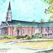 Greer United Methodist Church Poster by Patrick Grills