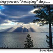Greeting Card - Flathead Lake Poster