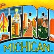 Greetings From Detroit Michigan Poster