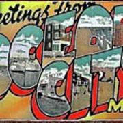 Greetings From Ocean City Poster