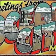 Greetings From Ocean City Poster