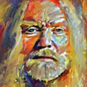Greg  Allman Tribute Portrait Poster