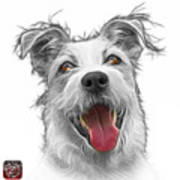 Greyscale Terrier Mix 2989 - Wb Poster