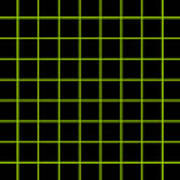 Grid Boxes In Black 09-p0171 Poster