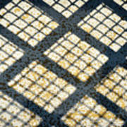 Grid Shadow On Concrete Poster
