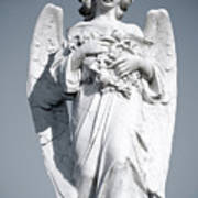 Grieving Angel On The Old Graveyard Poster