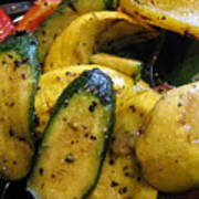 Grilled Veggies Poster