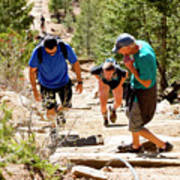 Grinding It Out On The Manitou Incline And Barr Trail Poster