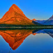 Grinnell Point Alpenglow Panorama Poster
