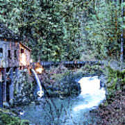 Griss Mill Watercolor Poster